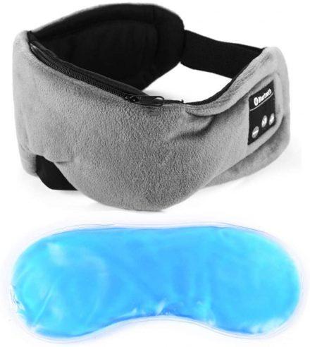 Antifaz para dormir con gel frio y auriculares. Antifaz de ejemplo del fabricante Powcan
