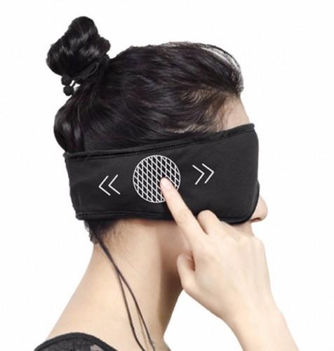 Antifaz con auriculares para dormir incorporados. Antifaz de ejemplo del fabricante Sleepace