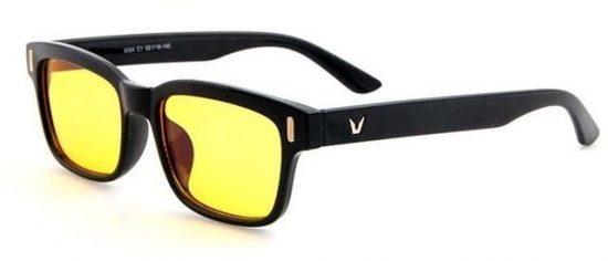 Gafas con lentes de absorcion de luz azul. Gafas de ejemplo del fabricante ARGO
