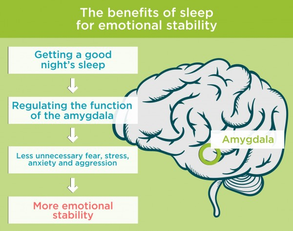 The benefits of sleep for emotional stability. By Recharge Energy. CC BY-SA 4.0